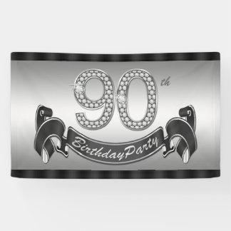 Platee a la 90.a fiesta de cumpleaños lona