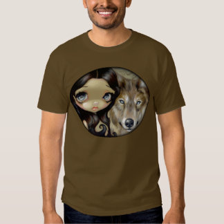Platee el arte grande observado del ojo del perro remeras