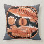 Platee la representación de dos pescados, 350 A.C. Almohadas