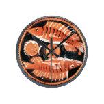 Platee la representación de dos pescados, 350 A.C. Relojes