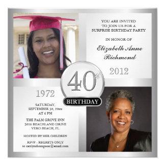 Platee las 40.as invitaciones del cumpleaños enton invitacion personal