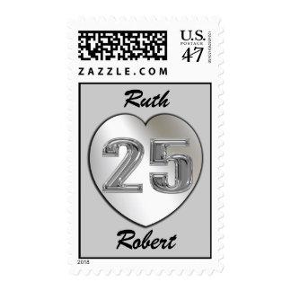 Platee los sellos de encargo del 25to aniversario