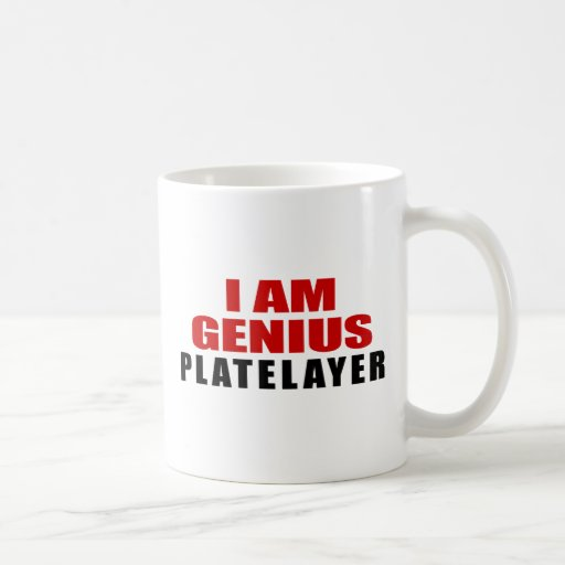 PLATELAYER DESIGNS CLASSIC WHITE COFFEE MUG