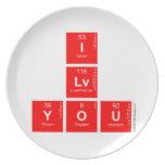 I Lv you  Plates