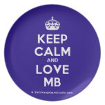 [Crown] keep calm and love mb  Plates