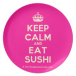 [Crown] keep calm and eat sushi  Plates
