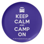 [Campervan] keep calm and camp on  Plates