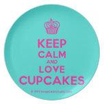 [Cupcake] keep calm and love cupcakes  Plates