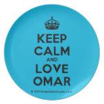 [Crown] keep calm and love omar  Plates