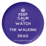 [Crown] keep calm and watch the walking dead  Plates