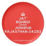 [Crown] jat' bishnoi chadi jodhpur rajasthan-342312  Plates