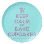 [Cupcake] keep calm and bake cupcakes  Plates