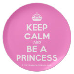 [Crown] keep calm and be a princess  Plates