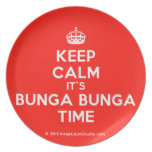 [Crown] keep calm it's bunga bunga time  Plates