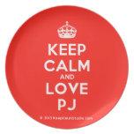 [Crown] keep calm and love pj  Plates