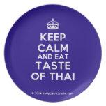 [Crown] keep calm and eat taste of thai  Plates