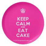 [Cupcake] keep calm and eat cake  Plates
