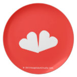 [Two hearts]  Plates