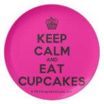 [Cupcake] keep calm and eat cupcakes  Plates