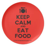 [Cutlery and plate] keep calm and eat food  Plates