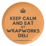 [Crown] keep calm and eat at wrapworks deli  Plates