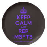 [Crown] keep calm and rep msfts  Plates