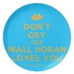 [Two hearts] don't cry coz niall horan loves you  Plates