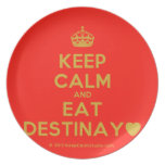 [Crown] keep calm and eat destinay♥  Plates