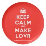 [Crown] keep calm and make lovr  Plates