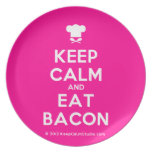 [Chef hat] keep calm and eat bacon  Plates