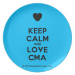 [Love heart] keep calm and love cma  Plates