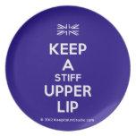 [UK Flag] keep a stiff upper lip  Plates