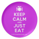 [Cutlery and plate] keep calm and just eat  Plates