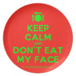 [Cutlery and plate] keep calm and don't eat my face  Plates