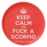 [Crown] keep calm and fuck a scorpio  Plates