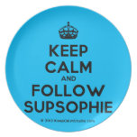 [Crown] keep calm and follow supsophie  Plates