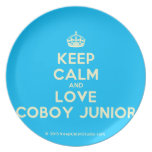 [Crown] keep calm and love coboy junior  Plates