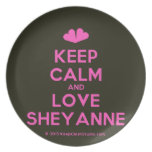 [Two hearts] keep calm and love sheyanne  Plates