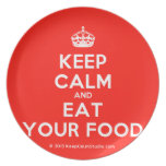 [Crown] keep calm and eat your food  Plates