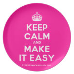 [Crown] keep calm and make it easy  Plates