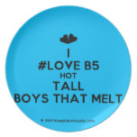 [Two hearts] i #love b5 hot tall boys that melt  Plates