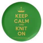[Knitting crown] keep calm and knit on  Plates