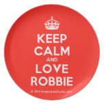 [Crown] keep calm and love robbie  Plates
