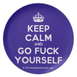 [Crown] keep calm and go fuck yourself  Plates