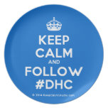 [Crown] keep calm and follow #dhc  Plates
