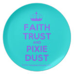 [Knitting crown] faith trust and pixie dust  Plates