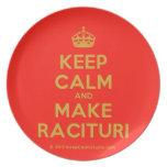 [Crown] keep calm and make racituri  Plates