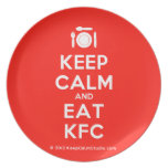 [Cutlery and plate] keep calm and eat kfc  Plates