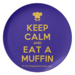 [Chef hat] keep calm and eat a muffin  Plates