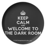 [Crown] keep calm and welcome to the dark room  Plates